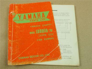 Yamaha Chappy LB80IIA 1976 Type 1F3 Parts list Ersatzteilliste Teilekatalog