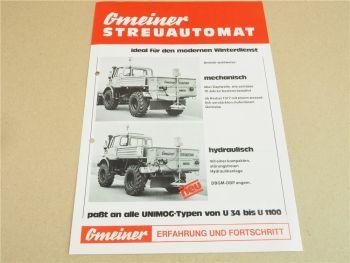 Prospekt Gmeiner Streuautomat für Unimog von ca 1978