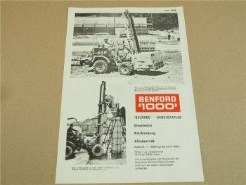 Prospekt Benford 1000 Gelände Gabelstapler 2-Zyl. Diesel 18 PS