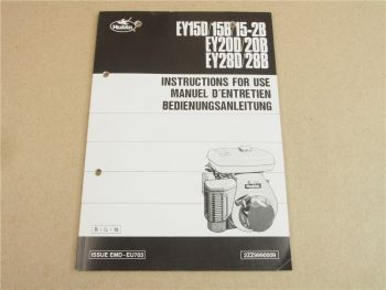 Robin engine EY15 EY20 EY28 D/B Bedienungsanleitung Operators Manual Manuel d en