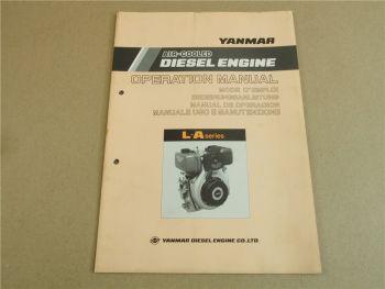 Yanmar L-A series Air Cooled Diesel Engine Bedienungsanleitung Operation Manual