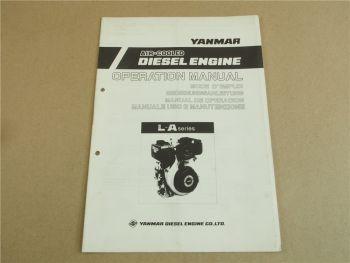Yanmar L-A series Air Cooled Diesel Engine Bedienungsanleitung Manuale Uso E Man
