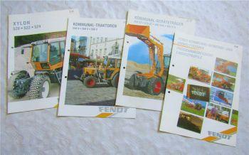 4 Prospekte Fendt 350 370 380 395 GT GKA GTA Xylon 520 522 524 + 250 260 280 V