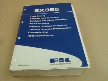 FK Fiat Kobelco EX355 Ersatzteilliste Parts List Catalogo Parti di ricambi 2002