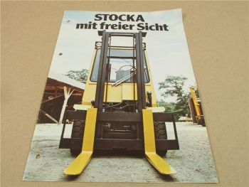Prospekt Stocka  Möllan Schweden Gabelstapler 2060 2560 3060 um 1979