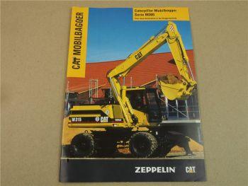 Prospekt Zeppelin CATerpillar Mobilbagger Serie M300 ca 1997 M312 M315 M318 M320