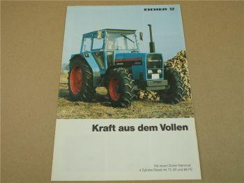 Prospekt Eicher Mammut 3072 3080 3088 S3 S4 AS3 AS4 Schlepper um 1986