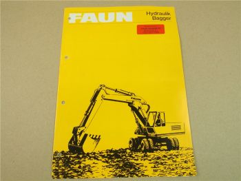 Prospekt FAUN FM FR 1013 1024 LC 1035 Hydraulikbagger