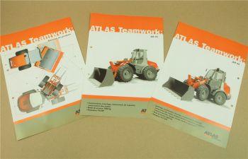 3 Prospekte Atlas AR60 AR95 Radlader Chargeuse sur pneus  Programm in französisc