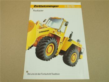 Prospekt Zettelmeyer ZL 1801 2002 3002 4002 5002 Radlader 1992