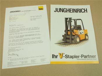 Prospekt Jungheinrich V-Stapler 1,5 - 7,5t Yale stapler mit Verbrennungsmotor 86