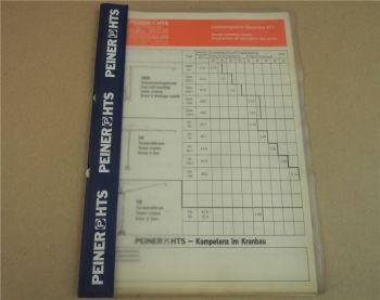 Datenblätter Peiner Turmdrehkrane SMK 93/1 203/1 SK 56 76 96/1 126/1 186 SN 86