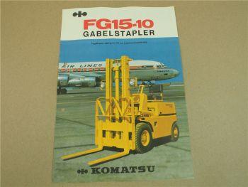Prospekt Komatsu FG15-10 Gabelstapler mit technischen Daten