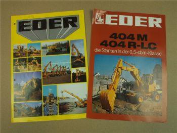 2 Prospekte Eder 404 815 825 835 M R-LC aus den 80er Jahren
