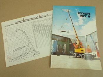 Prospekt Eder MT9 vollhydraulischer Mobilteleskopkran und Traglastdiagramm