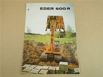 Prospekt Eder 600R Kettenbagger wohl 70er Jahre