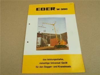 Prospekt Eder W350 Universalgerät für Bagger- und Kraneinsatz