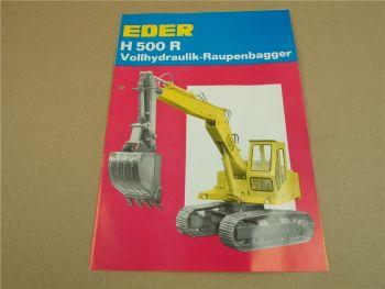 Prospekt Eder H500R Vollhydraulik Raupenbagger