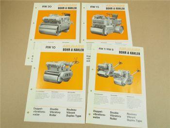 4 Prospekte Ahlmann Bohn & Kähler RW20 RW10 RW15 RW7 RW8 Walzen von 1977