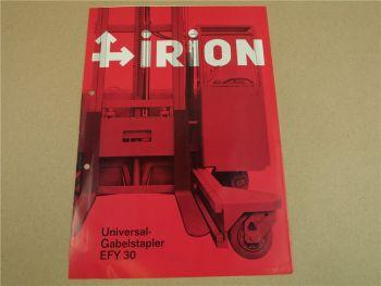 Prospekt Irion EFY30 Universal Gabelstapler 9/1970