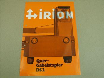 Prospekt Irion DS2 Quergabelstapler 10/1970