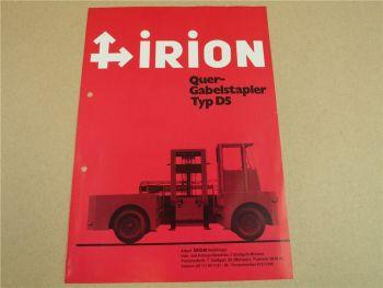 Prospekt Irion DS Quergabelstapler DFQ 45/19/00 DS von 1970