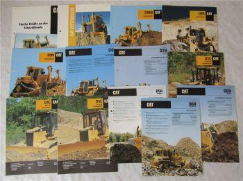 13 Prospekte Caterpillar D9N D3C D8N D9R D7H D10N D5C D6H Kettendozer 1990-95