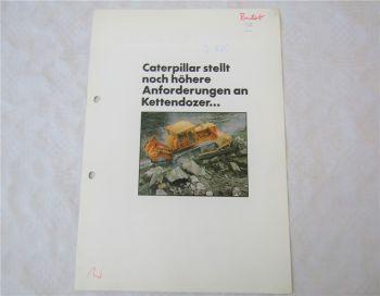 Prospekt CATerpillar D8K Kettendozer 1975