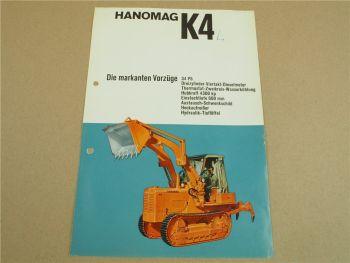 Prospekt Hanomag K4 K4L Planierraupe mit 34 PS 3-Zylinder 4/1964