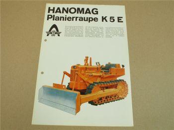 Prospekt Hanomag K5E F Planierraupe 5/1962