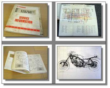 Yamaha FZX750 Service Information + Montageanleitung 1987