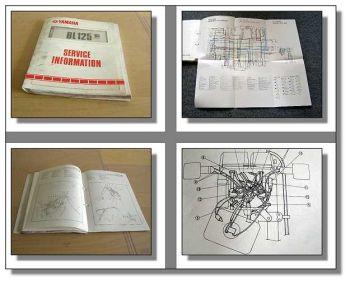 Yamaha BL125 1985 Service Information Wartung Schaltplan Inspektion