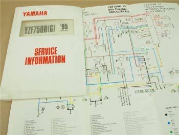Yamaha YZF750 R F SP 1993-1995 4HD Service Information Schaltplan Elektrik