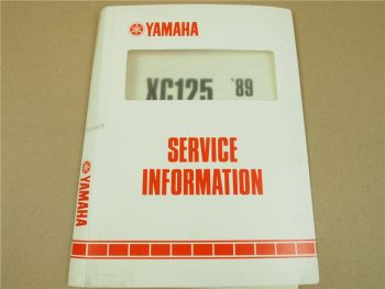 Yamaha XC125 3KR 1989 Service Information Inspektion Schaltplan Elektrik