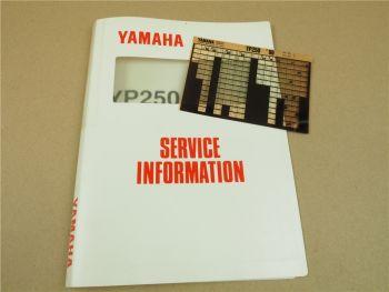 Yamaha YP250 Majesty 1996 Service Information + Wartungsanleitung
