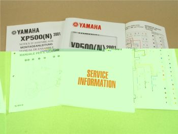 Yamaha YP500 N 2001 Service Information Wartung Inspektion Montageanleitung