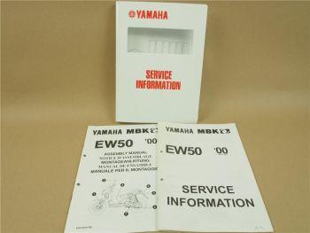 Yamaha EW50 2000 MBK Service Information Wartung Inspektion Montageanleitung
