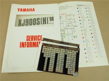 Yamaha XJ900S Diversion 1995 - 1997 Service Information + Wartungsanleitung