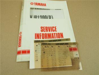 Yamaha XJR1300 (P) 2002 Service Information Wartungsanleitung Reparaturanleitung
