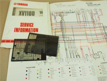 Yamaha XV1100 1996 Service Information Wartungsanleitung