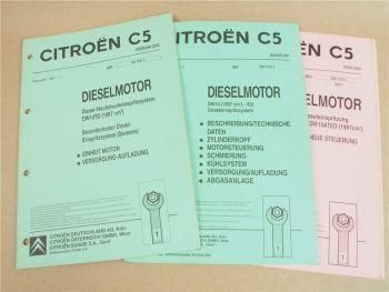 Citroen C5 2.0 HDI Diesele Motor DW10 Zylinderkopzf RHY RHZ Werkstatthandbuch