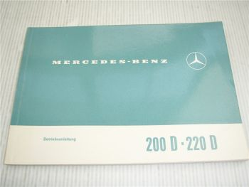 Mercedes Benz 200D 220D W115 /8 Betriebsanleitung Bedienungsanleitung 1971