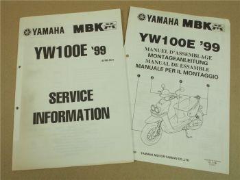 Yamaha YW100E 1999 4VPB Service Information Wartung Schaltplan Montageanleitu
