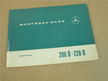 Mercedes Benz 200/8D 220/8D W115 Strich 8 Betriebsanleitung 1969 Bedienung