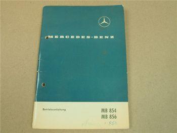 Mercedes Benz MB854 MB856 MB858 Betriebsanleitung Bedienung Wartung 1965