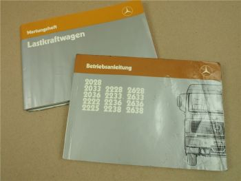 Mercedes Benz LKW Betrieb Wartung 2028 2033 2036 2222 2225 2228 2233 2236 2238