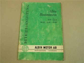 Albin O11 O21 AL23 O41 O411 Bootsmotor Betriebsanleitung Bedienungsanleitung