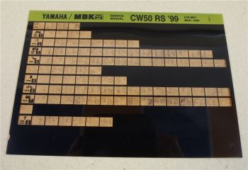 Yamaha CW50RS 1999 5JK Wartungsanleitung Microfich Service Anleitung