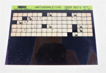Yamaha YN50R NEO´S 5BV 1997Wartungsanleitung Microfich Service Anleitung