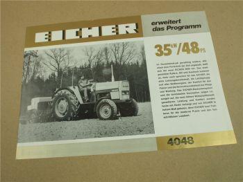 Prospekt Eicher 4048 Schlepper mit 48 PS
